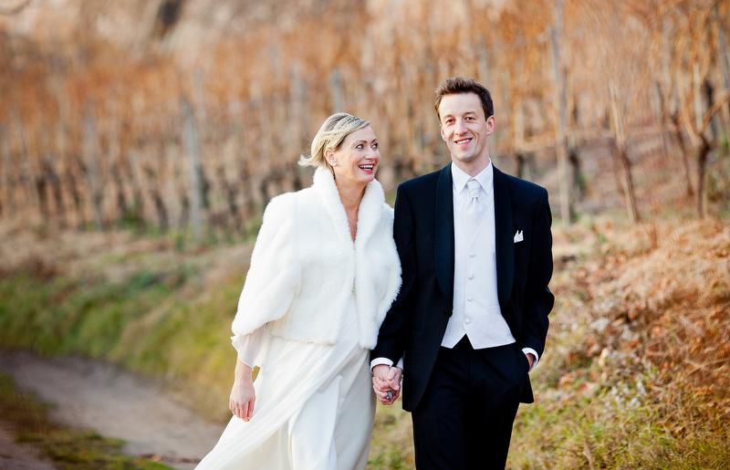 Glückliches Brautpaar in Radebeul